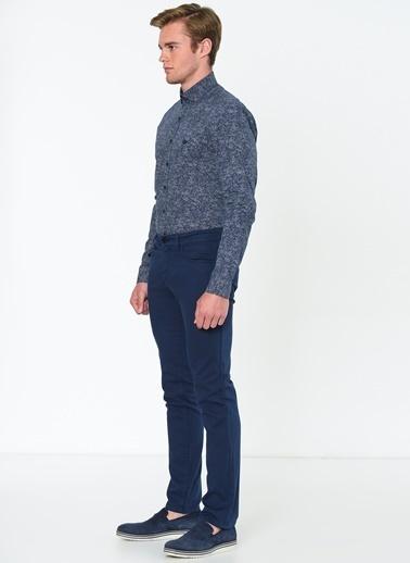 Beymen Business Desenli Klasik Uzun Kollu Gömlek Lacivert